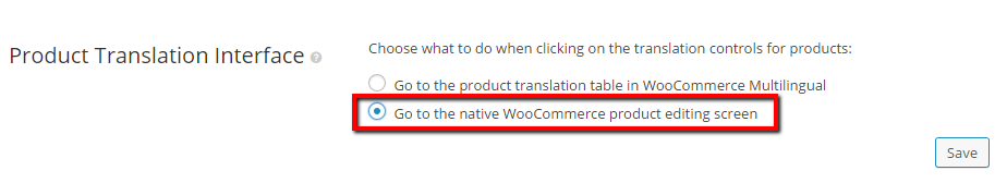 Product Translation Interface